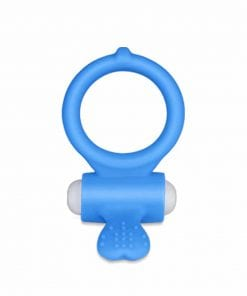 Power Clit Cockring Heart Blue