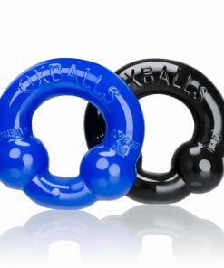 Ultraballs 2 Pack Cockring Black And Police Blue