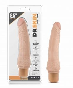 Dr Skin Cock Vibe 7 8.5in Vibrating Cock Beige