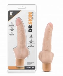 Dr Skin Cock Vibe 12 8in Vibrating Cock Beige
