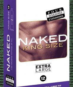 Condom Ultra Thin 12pk Naked King Size 64mm