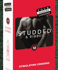 Condom 12pk Studs & Ribs 52mm