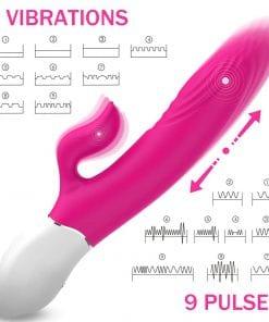 Lighter Thrusting Rabbit Vibrator - Pink