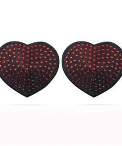 Reusable Red Diamond Heart Nipple Pasties