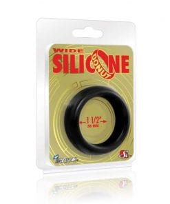 Wide Donut Black Cock Ring 38mm