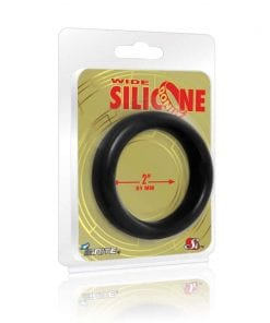 Wide Donut Black Cock Ring 51mm