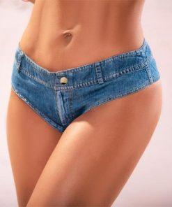 Chambray Micro Mini Shorts